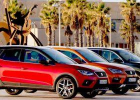I tre SUV SEAT Ateca, Arona e Tarraco per le strade di Barcellona