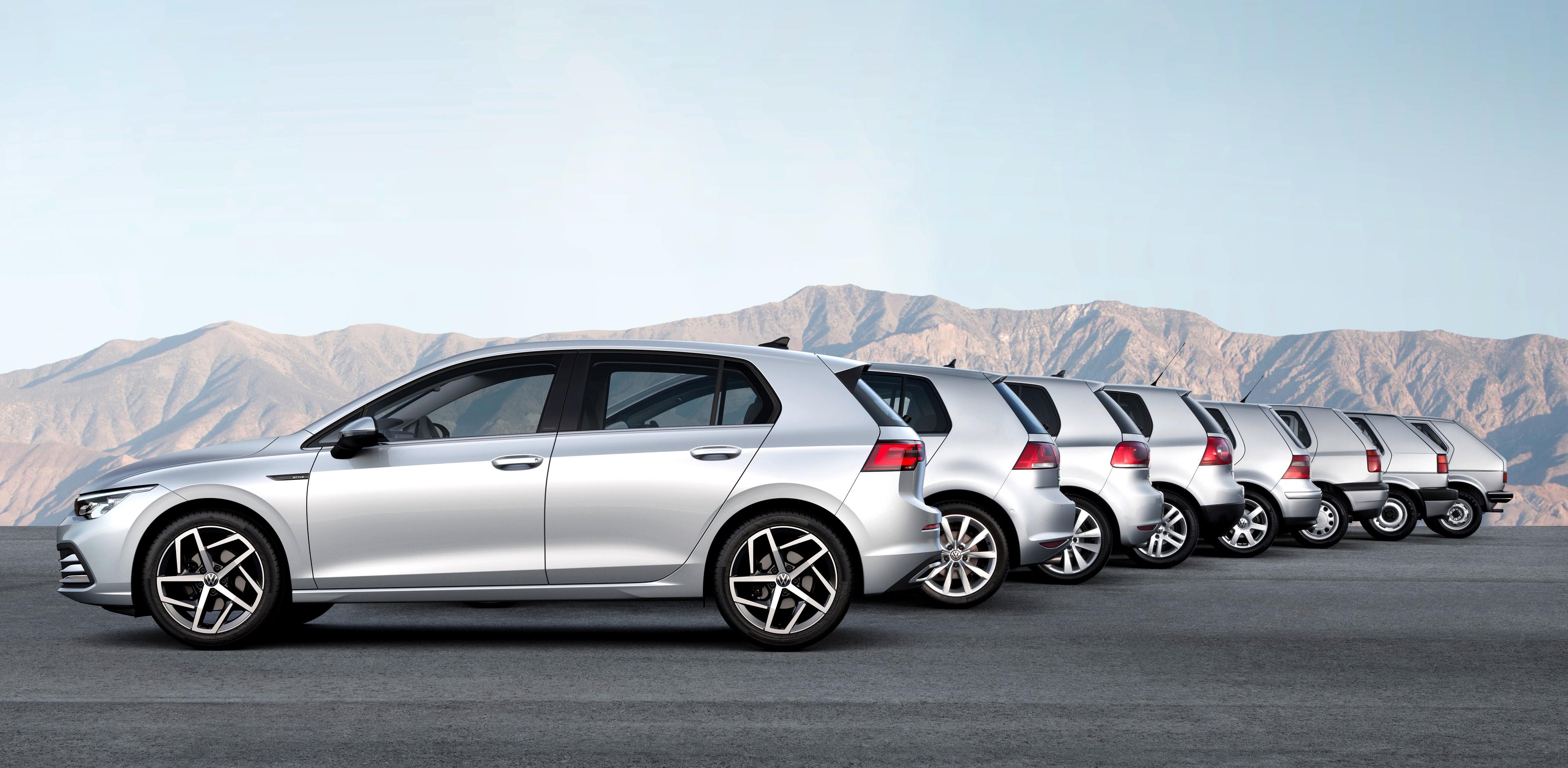 La nuova Volkswagen Golf tutte le generazioni a confronto