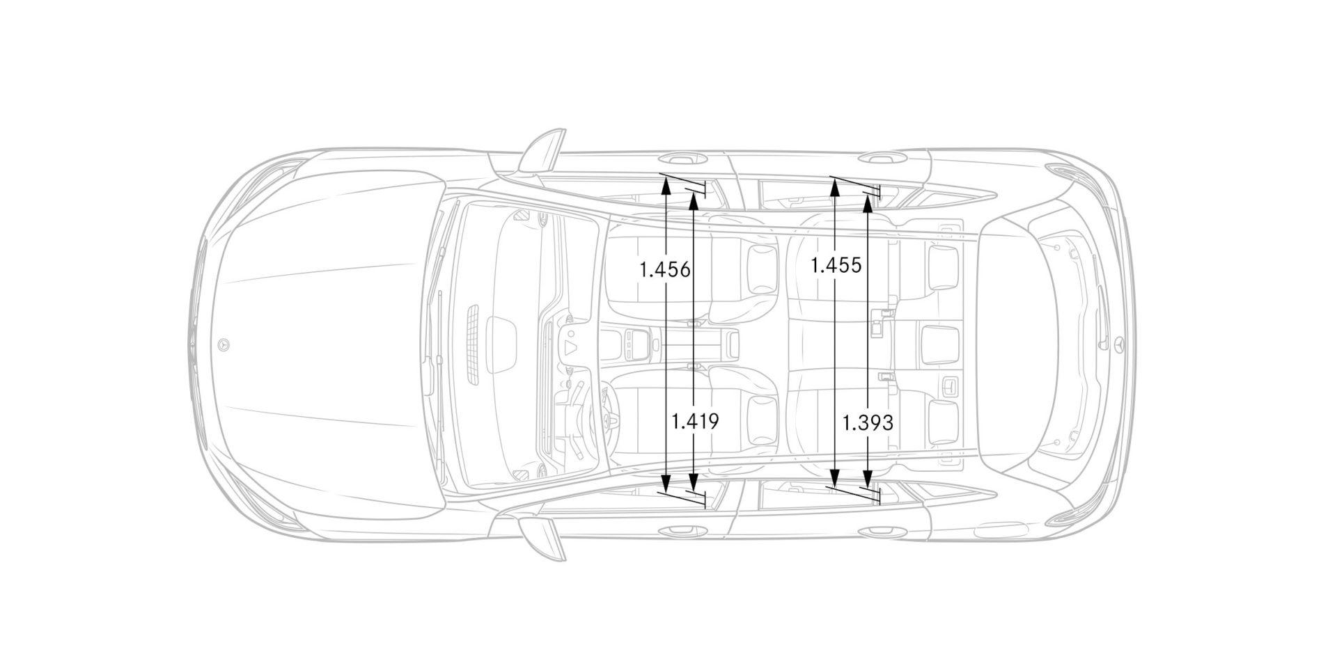 dimensioni interne della Mercedes GLA