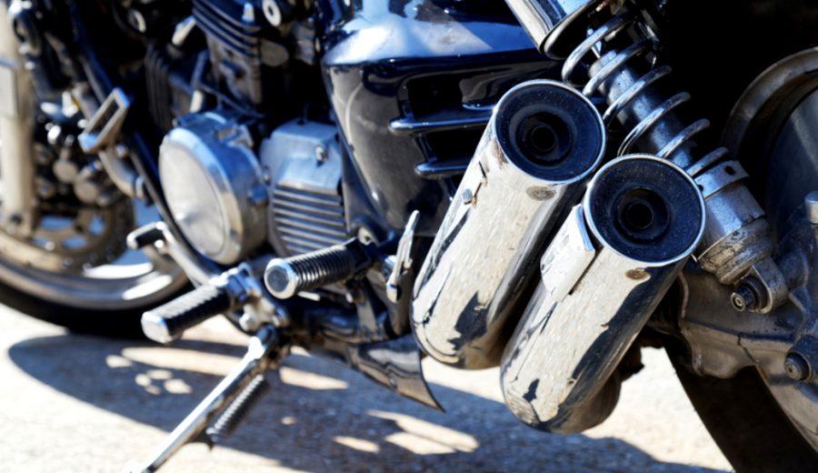 marmitta di scarico della moto